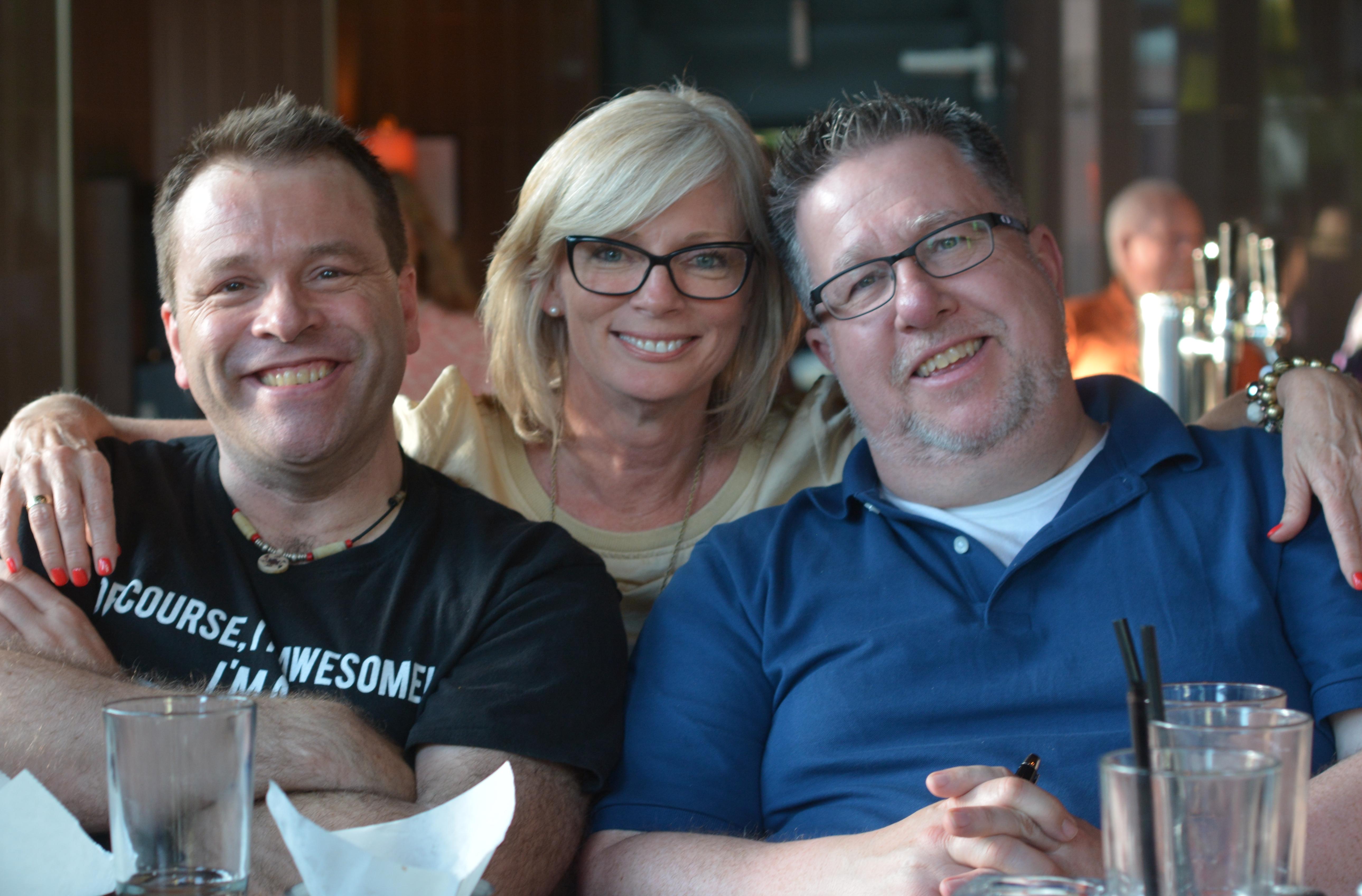 Sean Smith, Vicki McLeod and Steve Dotto